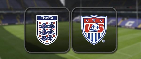 Англия - США: Полный матч и Лучшие моменты