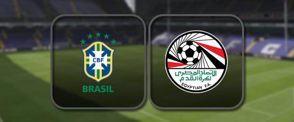 Бразилия - Египет онлайн трансляция