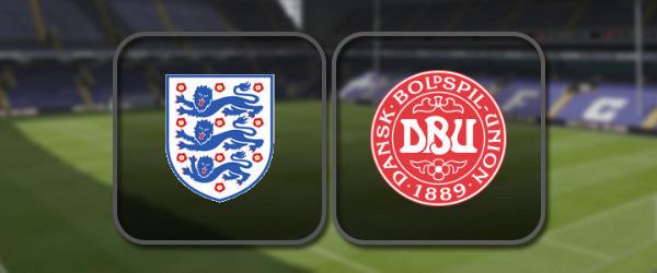 Англия - Дания: Полный матч и Лучшие моменты