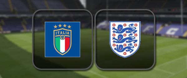 Италия - Англия онлайн трансляция